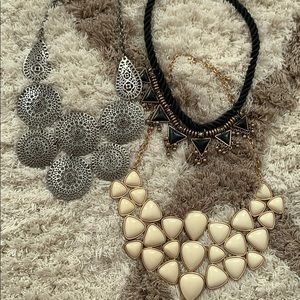 3 Forever 21 Statement Necklaces